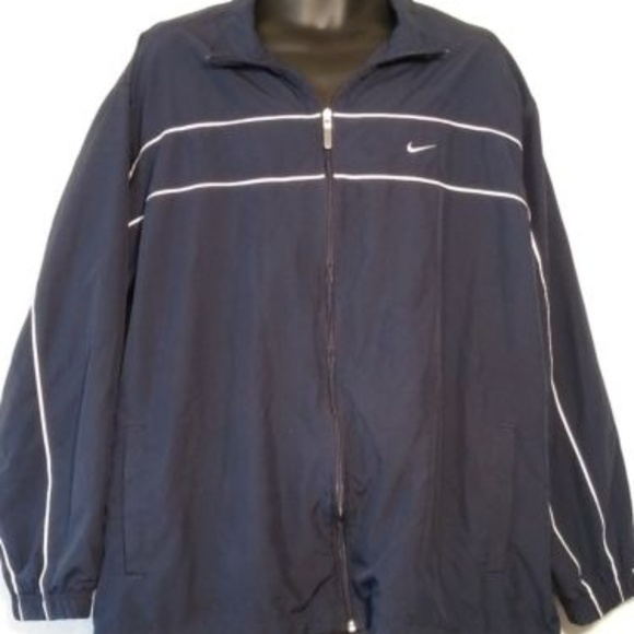 998843f08c62 Nike Navy Blue Mesh Lined Nylon Windbreaker XXL. M 5b023a649d20f02229e9f788